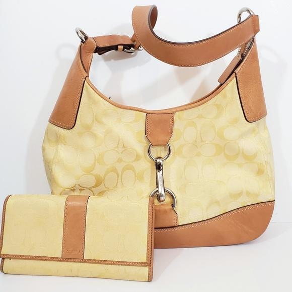 Coach Handbags - Authentic Coach Handbag with wallet set